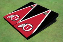 University Of Utah 'U' Red And Black Matching Triangle Cornhole Boards