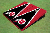 University Of Utah 'U' Black And Red Matching Triangle Cornhole Boards