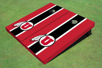 University Of Utah 'U' Black And Red Matching Long Stripe Cornhole Boards