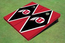 University Of Utah 'U' Black And Red Matching Diamond Cornhole Boards