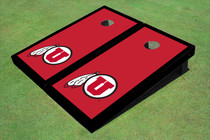 University Of Utah 'U' Red Matching Border Cornhole Boards