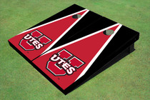 University Of Utah 'UTES' Red And Black Matching Triangle Cornhole Boards