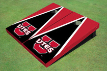 University Of Utah 'UTES' Black And Red Matching Triangle Cornhole Boards
