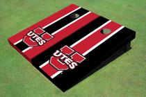 University Of Utah 'UTES' Alternating Long Stripe Cornhole Boards