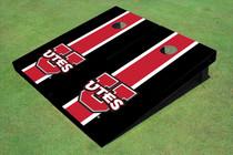 University Of Utah 'UTES' Red And Black Matching Long Stripe Cornhole Boards