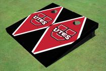 University Of Utah 'UTES' Red And Black Matching Diamond Cornhole Boards