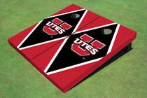 University Of Utah 'UTES' Black And Red Matching Diamond Cornhole Boards