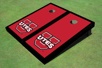 University Of Utah 'UTES' Red Matching Border Cornhole Boards