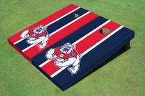 Fresno State Bulldog Alternating Long Stripe Cornhole Boards