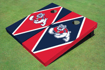 Fresno State Bulldog Alternating Diamond Cornhole Boards