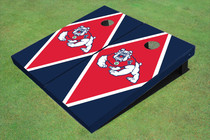 Fresno State Bulldog Red And Navy Blue Matching Diamond Cornhole Boards
