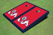 Fresno State Bulldog Red Matching Border Cornhole Boards
