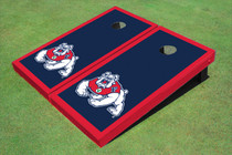 Fresno State Bulldog Navy Blue Matching Border Cornhole Boards