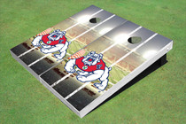 Fresno State Bulldog Stadium Long Strip Themed Cornhole Boards