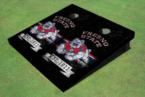 Fresno State Bulldog Rosewood Alternating Long Stripe Cornhole Boards