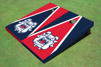 Fresno State Bulldog 'Dog Face' Alternating Triangle Cornhole Boards