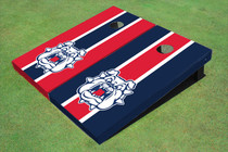 Fresno State Bulldog 'Dog Face' Alternating Long Stripe Cornhole Boards