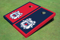 Fresno State Bulldog 'Dog Face' Alternating Border Cornhole Boards