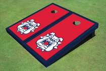 Fresno State Bulldog 'Dog Face' Red Matching Border Cornhole Boards