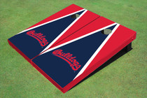 Fresno State Bulldog 'Word Mark' Navy Blue And Red Matching Triangle Cornhole Boards