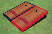 Fresno State Bulldog 'Word Mark' Rosewood Alternating Border Cornhole Boards