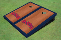 Fresno State Bulldog 'Word Mark' Navy Blue Rosewood Matching Borders Cornhole Boards