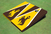 University Of Wyoming Cowboys Alternating Triangle Cornhole Boards