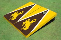 University Of Wyoming Cowboys Brown And Gold Matching Triangle Cornhole Boards