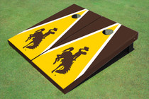 University Of Wyoming Cowboys Gold And Brown Matching Triangle Cornhole Boards