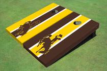 University Of Wyoming Cowboys Alternating Long Stripe Cornhole Boards