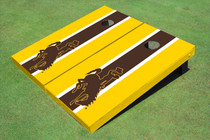University Of Wyoming Cowboys Brown And Gold Matching Long Stripe Cornhole Boards