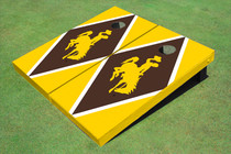 University Of Wyoming Cowboys Brown And Gold Matching Diamond Cornhole Boards