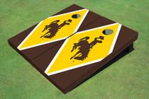 University Of Wyoming Cowboys Gold And Brown Matching Diamond Cornhole Boards