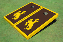 University Of Wyoming Cowboys Brown Matching Border Cornhole Boards