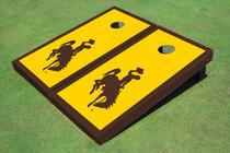 University Of Wyoming Cowboys Gold Matching Border Cornhole Boards