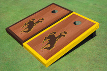 University Of Wyoming Cowboys Rosewood Alternating Border Cornhole Boards