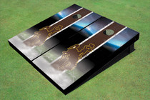 University Of Wyoming Cowboys Field Long Strip Matching Brown Themed Cornhole Boards