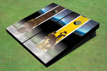University Of Wyoming Cowboys Field Long Strip Alternating Themed Cornhole Boards