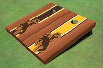 University Of Wyoming Cowboys Rosewood Alternating Long Stripe Cornhole Boards