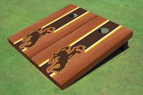 University Of Wyoming Cowboys Brown Rosewood Matching Long Strip Cornhole Boards