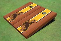 University Of Wyoming Cowboys Gold Rosewood Matching Long Stripe Cornhole Boards