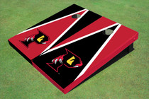 "Orlando Predators ""P"" Black And Red Alternating Triangle Cornhole Boards"