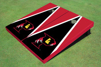 "Orlando Predators ""P"" Black And Red Triangle Cornhole Boards"