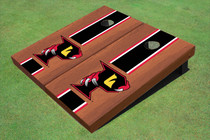 "Orlando Predators ""P"" Rosewood Black Matching Long Stripe Cornhole Boards"