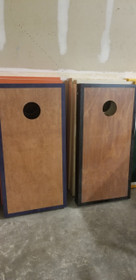 Rosewood Black And Navy Cornhole Boards