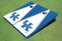 University Of Kentucky White And Blue Matching Triangle Cornhole Boards