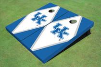 University Of Kentucky White And Blue Matching Diamond Cornhole Boards
