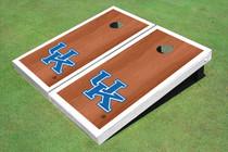 University Of Kentucky White Rosewood Matching Borders Cornhole Boards