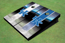 University Of Kentucky Field Alternating Long Strip Themed Cornhole Boards