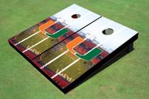 University Of Miami Stadium Long Strip Themed Cornhole Boards